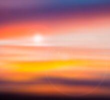 sunset circles by Ange Wall