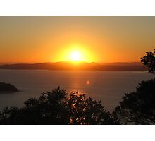 Sunset over Port Stephens Photographic Print