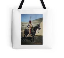 Hussar from the Crimean War - Colourised photo Tote Bag