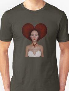 Queen of hearts portrait Unisex T-Shirt