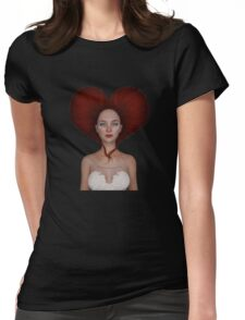 Queen of hearts portrait Womens Fitted T-Shirt