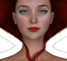 Queen of hearts portrait Sticker