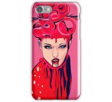 pink blood girl iPhone Case/Skin