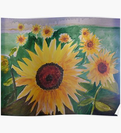 Provence Sunflowers Poster