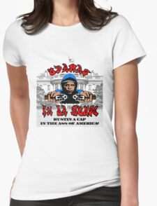 Obama's In Da House Womens Fitted T-Shirt