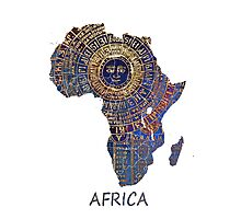 Africa map ancient Photographic Print