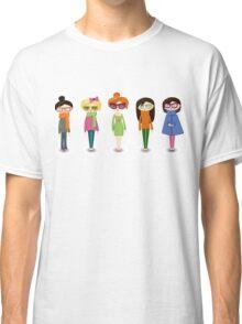 Hipster girl fashion set Classic T-Shirt