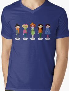 Hipster girl fashion set Mens V-Neck T-Shirt
