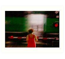 Alma Train Crossing Art Print