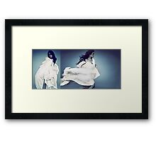 Fight or flight? Framed Print