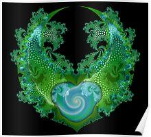 Green Nebulous Emblem Poster