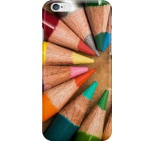 Colorful wooden pencils  iPhone Case/Skin