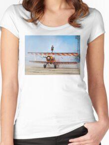 Boeing Stearman A75N1 N707TJ Women's Fitted Scoop T-Shirt