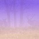 Elk in Purple Mist by Lisa G. Putman