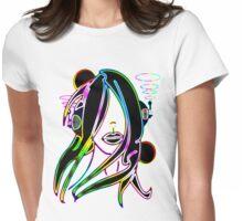 Headphone girl Womens Fitted T-Shirt