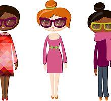 Hipster girl fashion set by OlgaBerlet