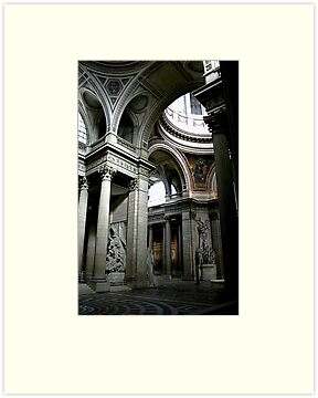 Pantheon interior in Paris in colour by Elana Bailey