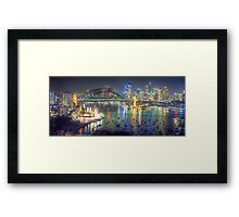 Lights, Camera , Action - Moods Of A City - THe HDR Experience Framed Print