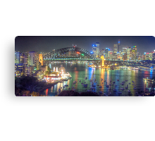 Lights, Camera , Action - Moods Of A City - THe HDR Experience Canvas Print