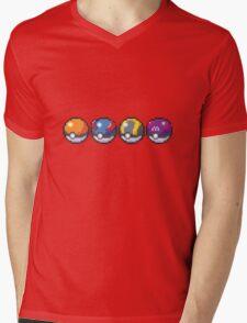 Pokeballs Mens V-Neck T-Shirt