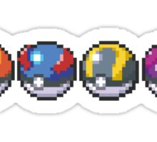 Pokeballs Sticker