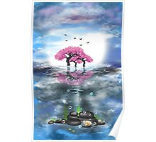 Flowering trees and treasures Poster