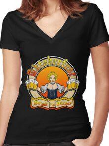 Oktoberfest Shirt Women's Fitted V-Neck T-Shirt