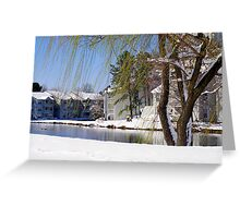 Willows in the Snow Greeting Card