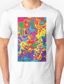 Very coloured map, spot of paint.  T-Shirt