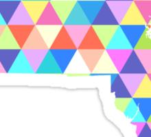 Massachusetts Colorful Hipster Geometric Triangles Boston Sticker