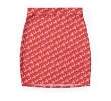 Hot Wife Secrets: Hot Wife Motif - white on red Mini Skirt