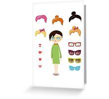 girl fashion set Greeting Card