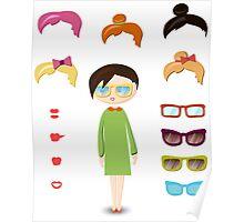 girl fashion set Poster