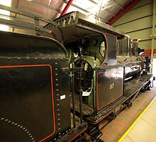 Steam locomotive in Australia's National Railway Museum. by John Mitchell
