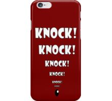 Knock Knock T-Shirts iPhone Case/Skin