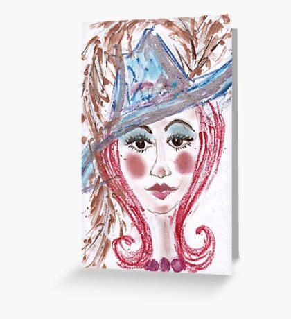 hat lady Greeting Card