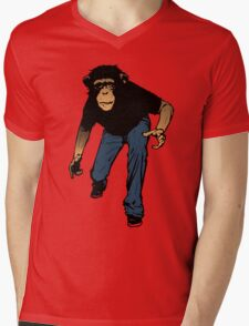 Prowling Monkey Mens V-Neck T-Shirt