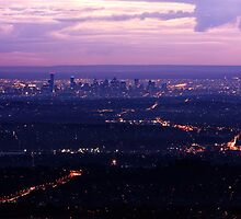 Melbourne Skyline from Mount Dandenong by Ben Harris