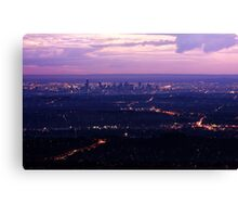 Melbourne Skyline from Mount Dandenong Canvas Print