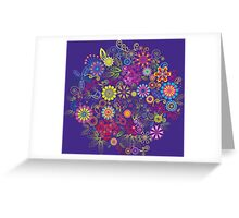 Scattering of tiny flowers Greeting Card
