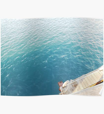 Mer eau bleue turquoise Poster
