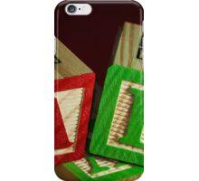 Wooden Alphabet Blocks  iPhone Case/Skin