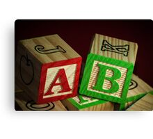 Wooden Alphabet Blocks  Canvas Print