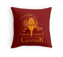The Viper is my Champion Throw Pillow