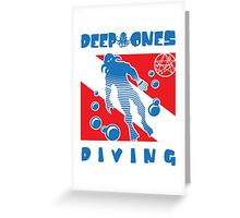DEEP ONES DIVING Greeting Card