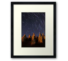 Star Trails At The Pinnacles  Framed Print