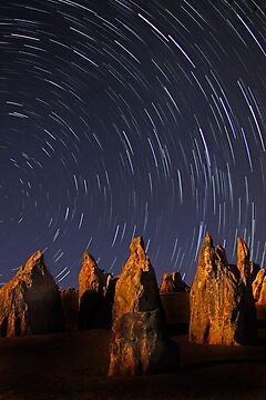 Star Trails At The Pinnacles  by EOS20