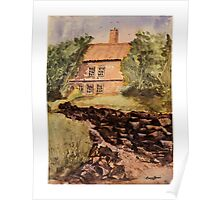 Behind The House - Impressionistic Watercolor Painting Poster