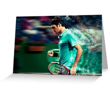 Roger Federer Greeting Card