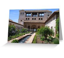 Palace within the Alhambra in Granada, Spain   Greeting Card